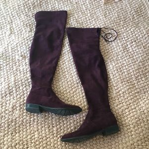 Marc Fisher Knee High Maroon Boots 7.5